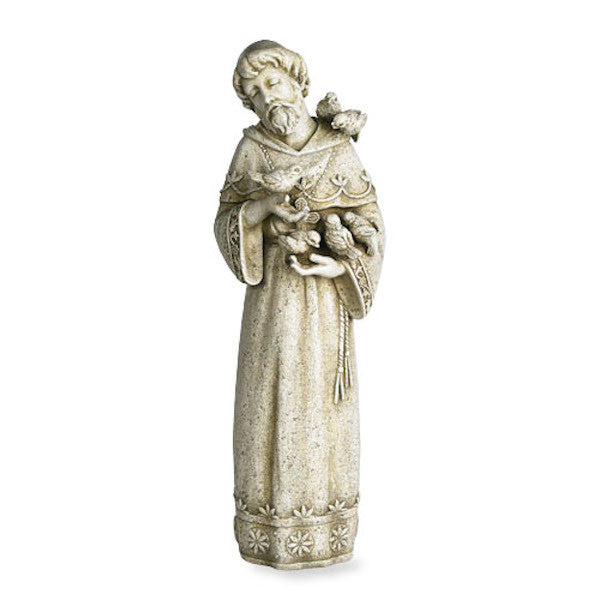Saint Francis with Birds Garden Statue