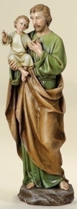 Saint Joseph and Child Jesus Statue  Patron Saint Of Fathers And Workers