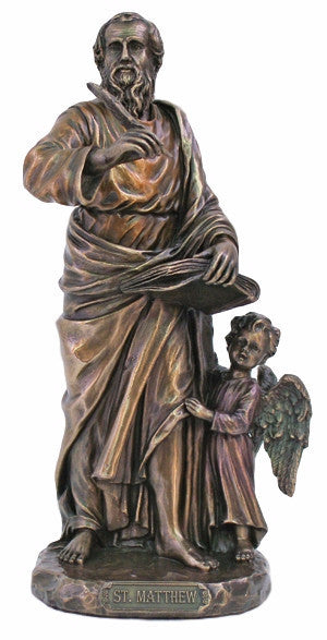 Saint Matthew The Apostle Cold Cast Bronze Statue  Veronese Collection