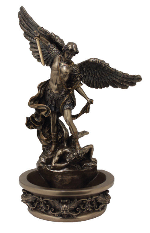 Saint Michael Holy Water Font For Table Or Wall