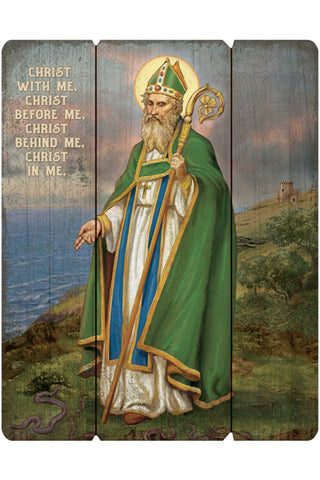 Saint Patrick Wooden Wall Plaque