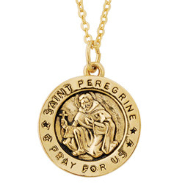 Saint Peregrine Cancer Healing Pendant On Chain Small Size