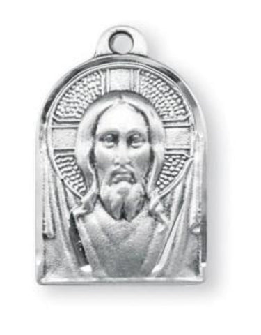 Sterling Silver Jesus Christ Medal On Chain