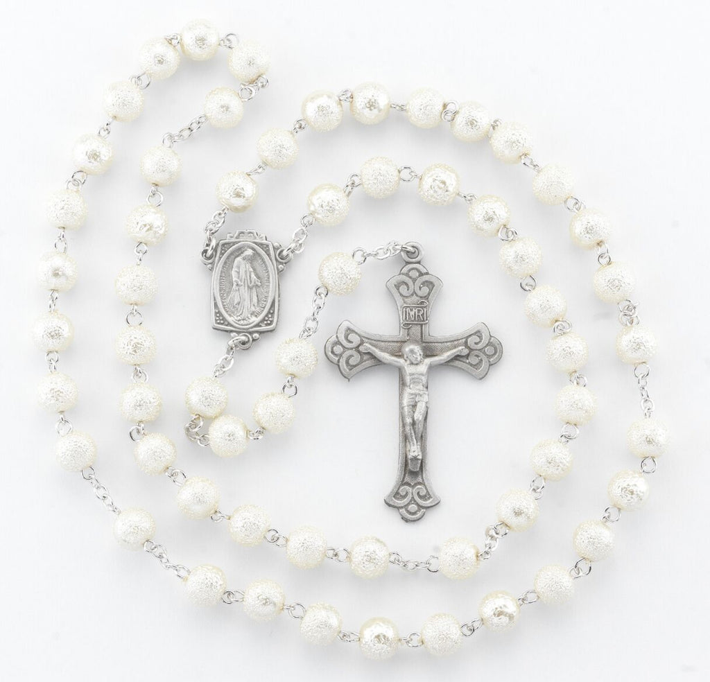 White Madonna Miraculous Rosary