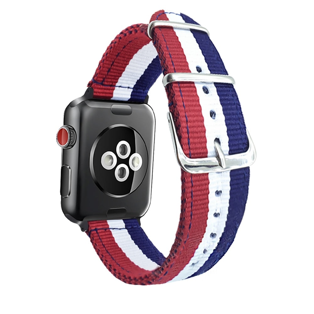 Nylon Striped band for Apple Watch