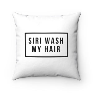 Curly Hair Queen Reversible Siri Wash My Hair Square Pillow