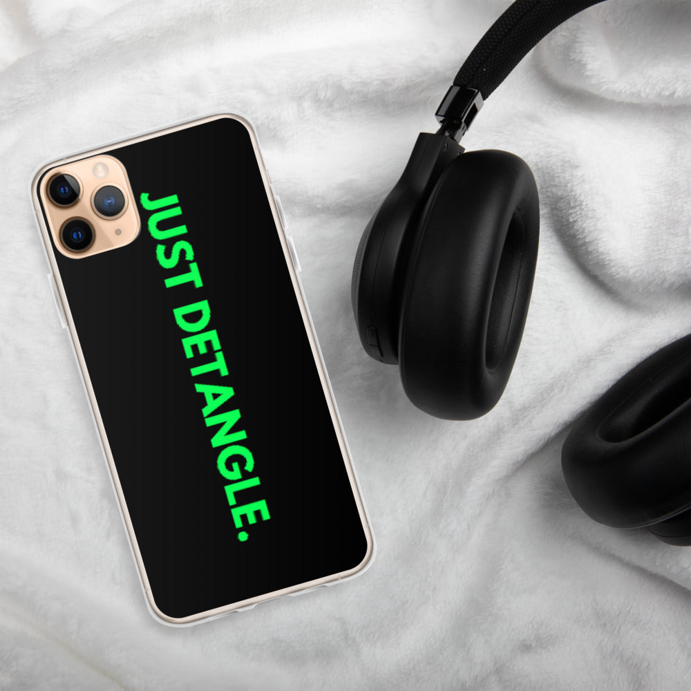 Green Just Detangle iPhone Case