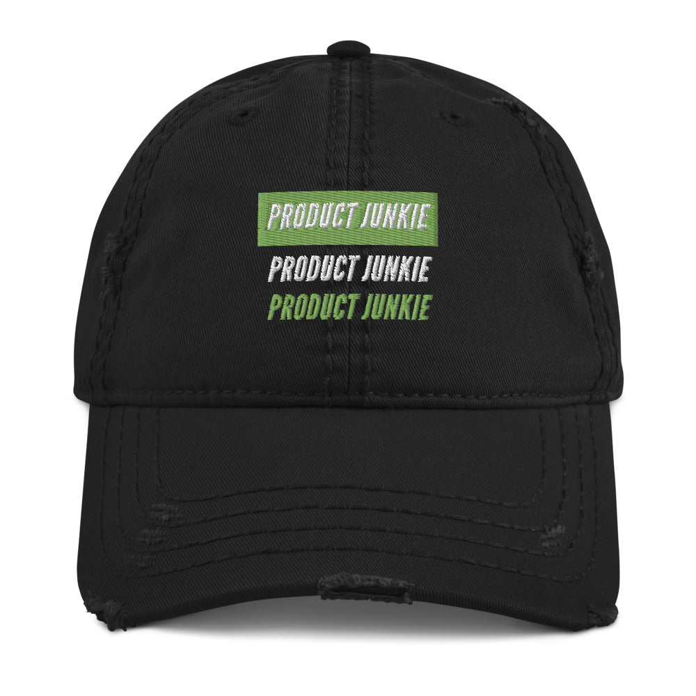 Product Junkie Distressed Dad Hat