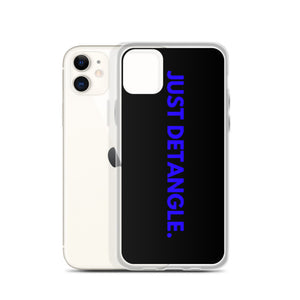 Blue Just Detangle iPhone Case