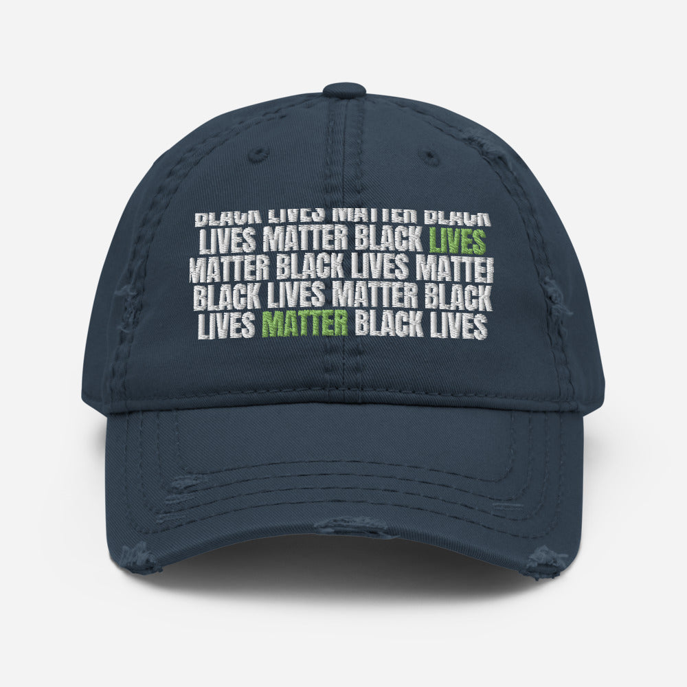 BLM Distressed Dad Hat