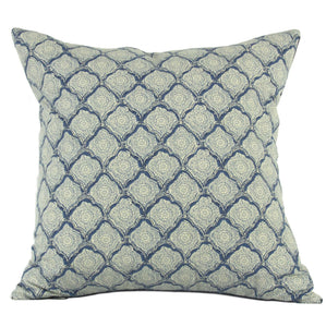 24x24 - Blue Print / Navy Back Pillow Cover