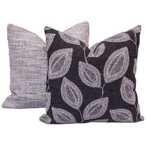 20x20 - Dark Grey Ivy Pillow Covers