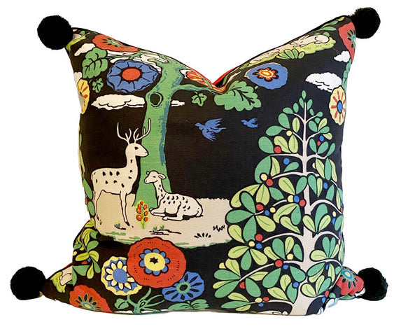 24x24 PAIR - HOLIDAY Fantasy Forest Pillow Covers