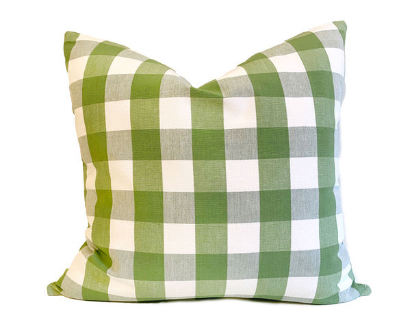 20x20 PAIR - HOLIDAY Kiwi Plaid Pillow Covers