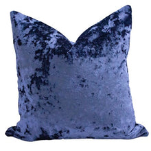Load image into Gallery viewer, 22x22 PAIR - Navy Crushed Velvet Pillow Covers