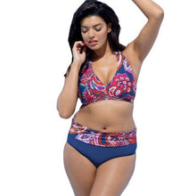 Load image into Gallery viewer, Plus Size Swimsuits Push Up Swimwear