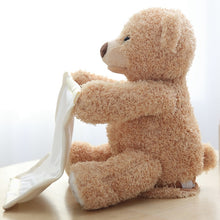 Load image into Gallery viewer, Peek A Boo Plush Animated Teddy Bear
