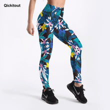 Load image into Gallery viewer, Flowers Printing Women Sportswear Fitness Leggings