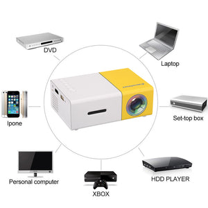 Home Mini Projector 1080P USB SD Card HDMI