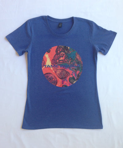 """Elephant Circle"" Blue Marle T Girls"
