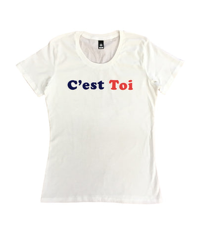 """C'est Toi"" white t-shirt - Girls"