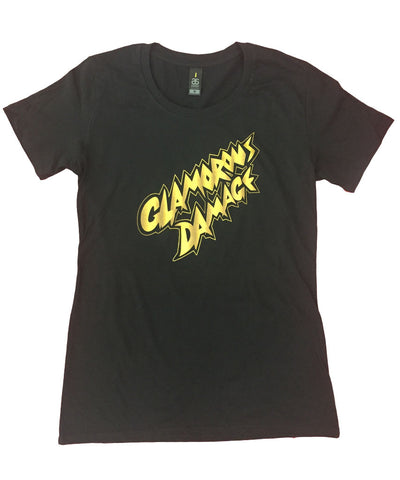 """Glamorous Damage"" black t-shirt - Girls"