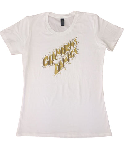 """Glamorous Damage"" white t-shirt - Girls"