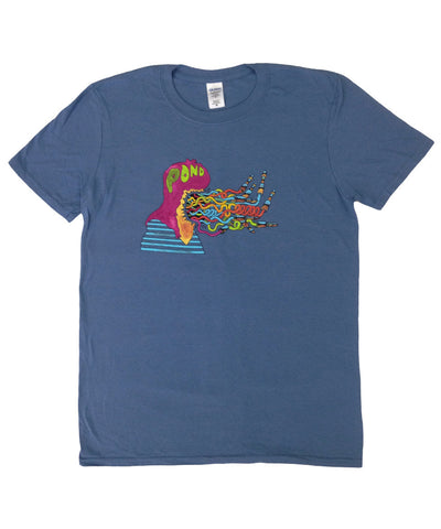 """Pond Monster"" T-shirt Guys - Blue"