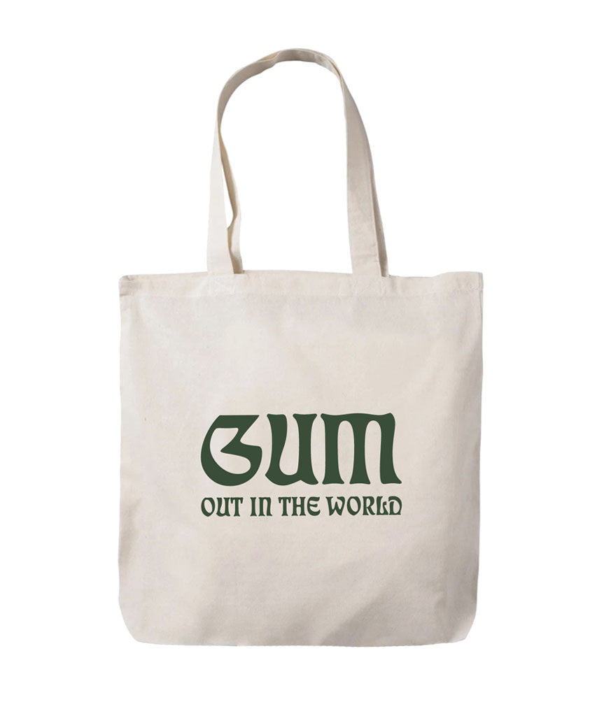 """Out In The World"" tote bag"