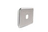 Light Switch Cover -1 Gang - Brushed Stainless Steel