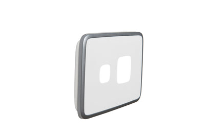 Single Powerpoint Cover Plate - Silver White