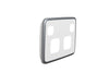 Double Powerpoint Cover Plate - Silver White