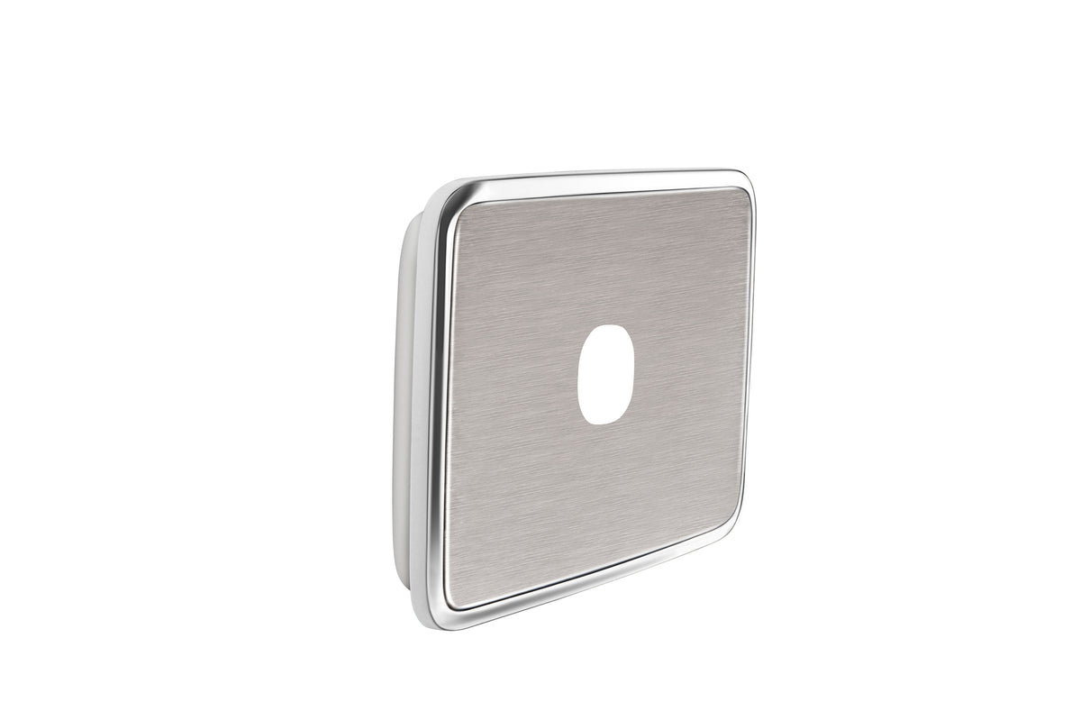 Clipsal Classic 1 Gang Light Switch with Brushed Stainless Steel Cover