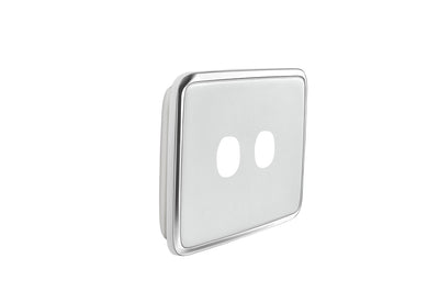 Light Switch Cover - 2 Gang  - Ghost Grey