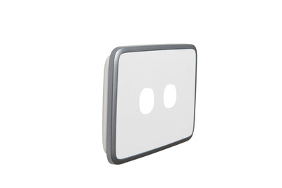 Light Switch Cover - 2 Gang - Silver White
