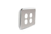 Light Switch Cover - 4 Gang - Brushed Stainless