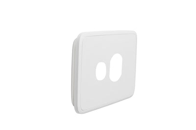 Single Powerpoint Cover Plate - White Basic