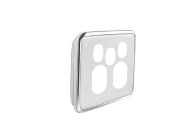 Double Powerpoint Cover w Extra Switch  - Ghost Grey