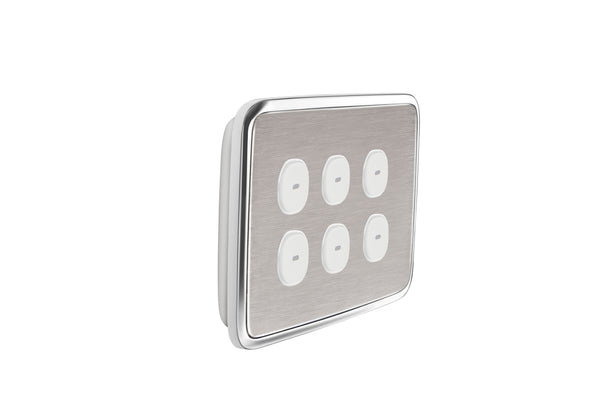 Diagram Contractor 2 Gang 2 Way Brushed Chrome Light Switch