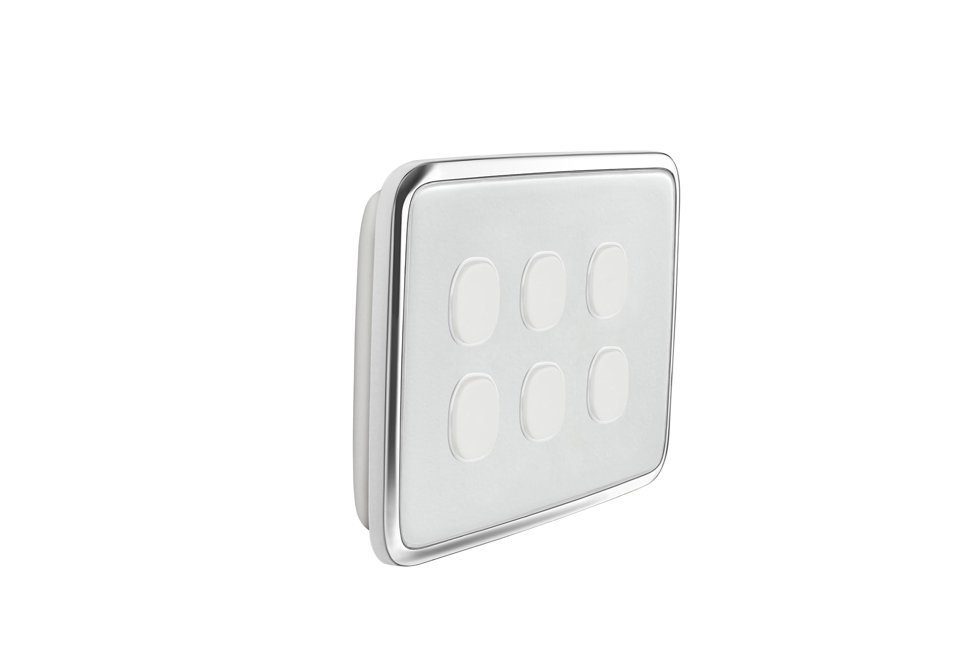 Clipsal Classic 6 Gang Push Button Light Switch With Ghost Grey