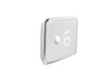 Single Powerpoint Cover Plate - Ghost Grey