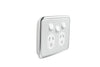 Clipsal Classic Double Powerpoint - Extra Switch and Ghost Grey Cover