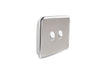 Clipsal Classic 2 Gang Light Switch with Brushed Stainless Steel Cover
