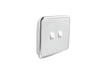 Clipsal Classic 2 Gang Light Switch with Ghost Grey Cover
