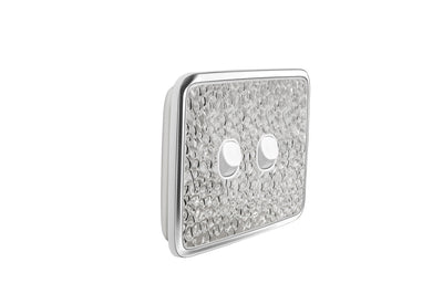 Light Switch Cover - 2 Gang - Hammer Metal