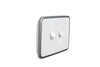 Clipsal Classic 2 Gang Light Switch with Silver White Cover