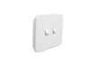 Clipsal Classic 2 Gang Light Switch with White Basic Cover
