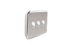 Clipsal Classic 3 Gang Light Switch with Brushed Stainless Steel Cover