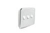 Clipsal Classic 3 Gang Light Switch with Ghost Grey Cover