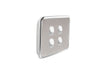 Clipsal Classic 4 Gang Light Switch with Brushed Stainless Steel Cover